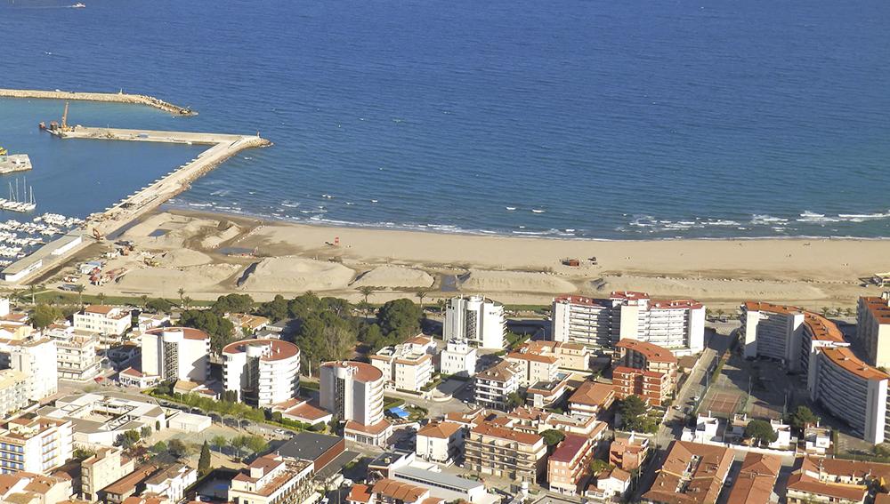 Diari d'obres Trasllat sorra platja gran