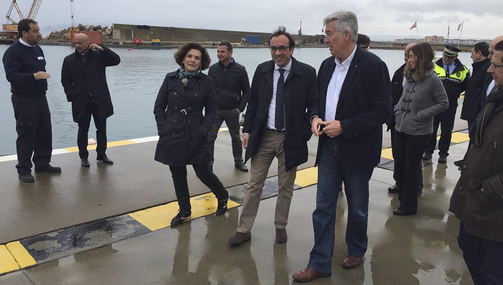 josep rull visita les obres del port estartit