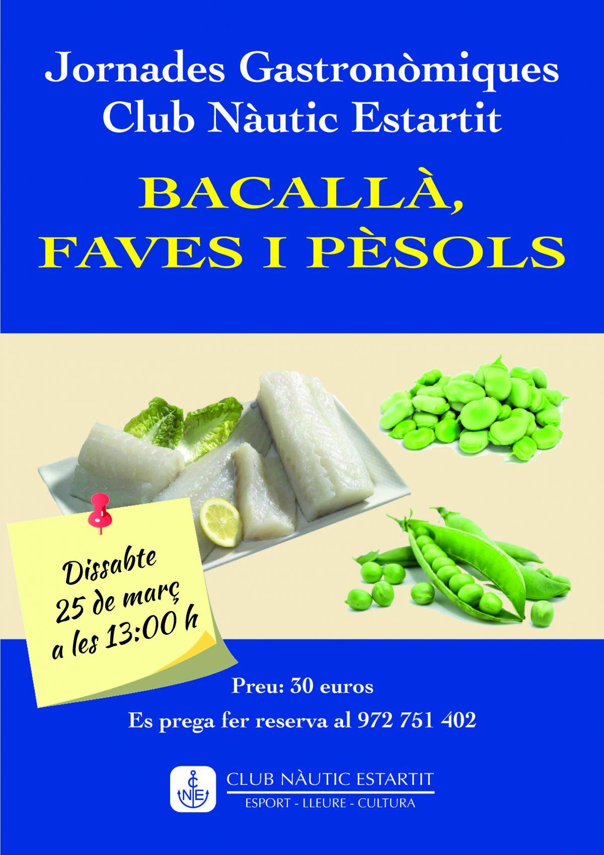 jornada gastronomica bacalla, faves i pesols