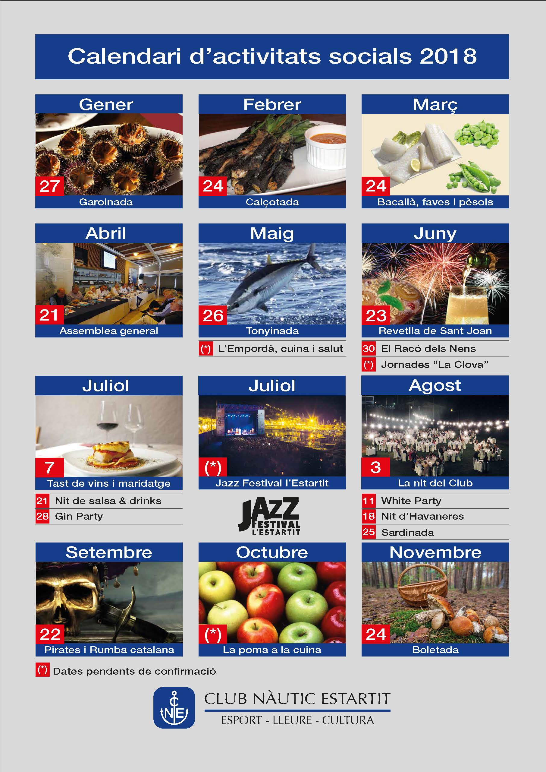 calendari act socials 2018